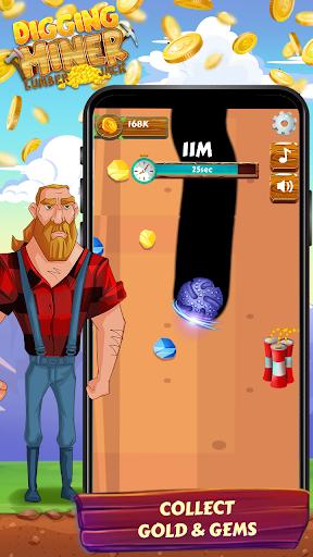 digging miner lumber jack – idle clicker game screenshot 1