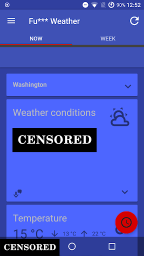 Fu*** Weather (Funny Weather) 11.0.18 (20200616 22:22)-release Screenshots 1