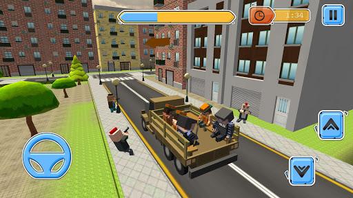 blocky vegas crime simulator:prisoner survival bus screenshot 3