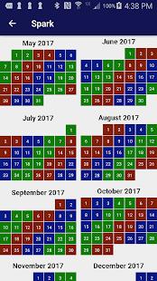 Spark - Shift Calendar