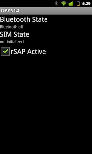 Bluetooth SIM Access Profile Screenshot