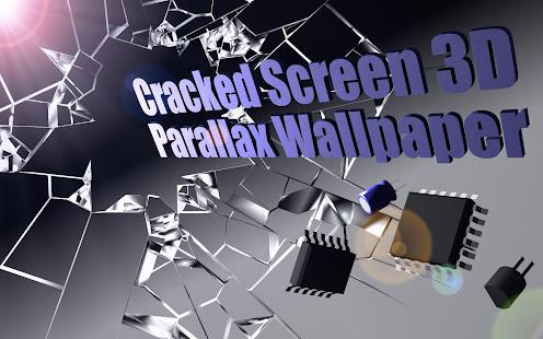 Cracked Screen Gyro 3D Parallax Wallpaper HD