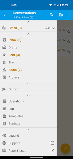 FairEmail, privacy first email screenshots 2
