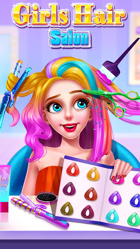 💇💇Girls Hair Salon modiapk screenshots 1