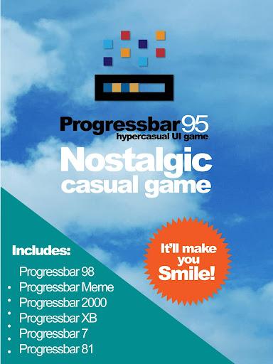Progressbar95 - easy, nostalgic hyper-casual game Apkfinish screenshots 19