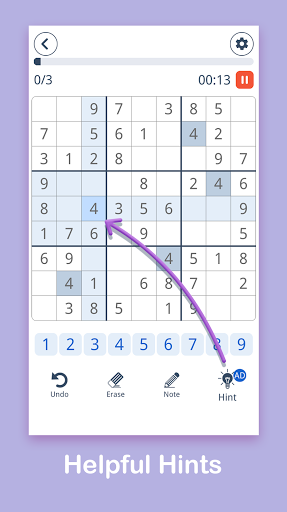 Sudoku: Easy Sudoku & Free Puzzle Game 1.0.8 screenshots 3