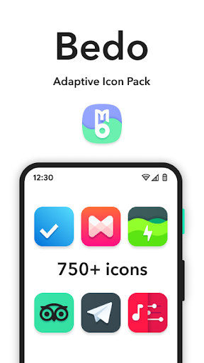Download APK: Bedo Adaptive Icon Pack v1.6.7 [Patched]