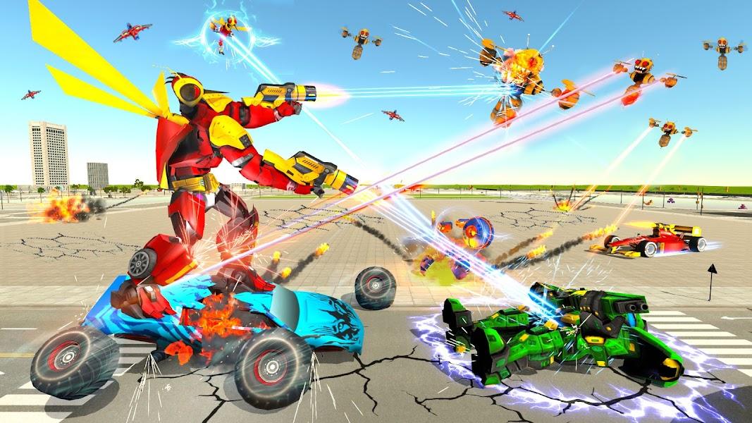 Dragon Fly Robot Transform Games: Robot Car Game