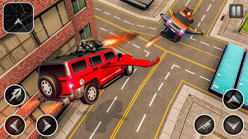 Flying Car Shooting Games - Drive Modern Cars Game 1.7 screenshots 2