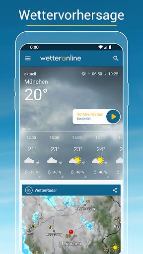 RegenRadar - mit Unwetterwarnung  screenshots 1