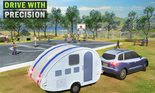 Camper Van Truck Simulator: Cruiser Car Trailer 3D screenshots 6