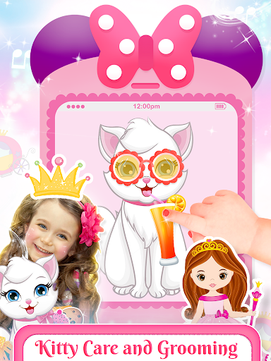 Pink Little Talking Princess Baby Phone Kids Game 9.0.1 screenshots 4