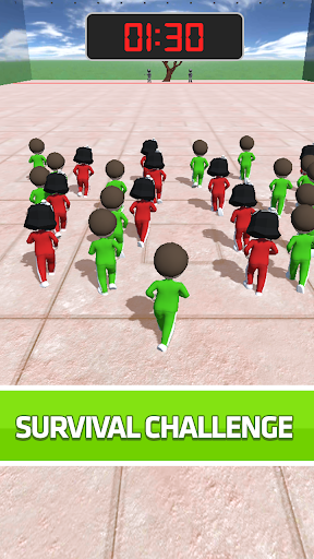 Red Green Light Challenge: Run, Stop Game  screenshots 1