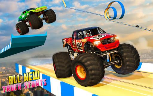 Monster Truck Mega Ramp Stunts Extreme Stunt Games screenshots 8