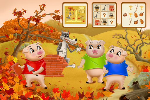 Three Little Pigs - Fairy Tale with Games android-1mod screenshots 1