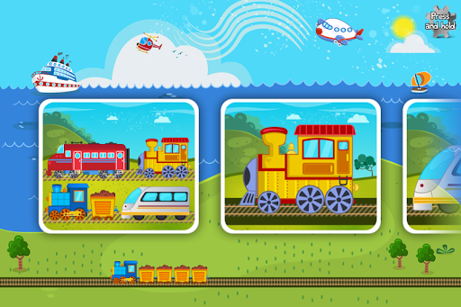 Trains Jigsaw Puzzles for Kids 3.6 screenshots 1
