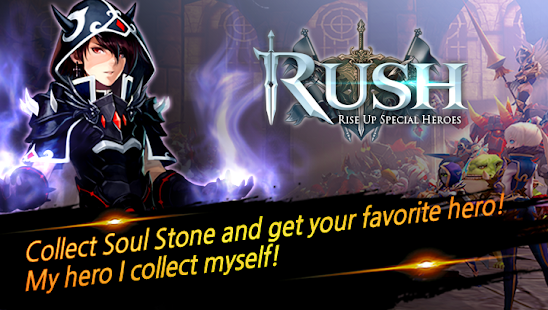 How to hack RUSH : Rise up special heroes for android free
