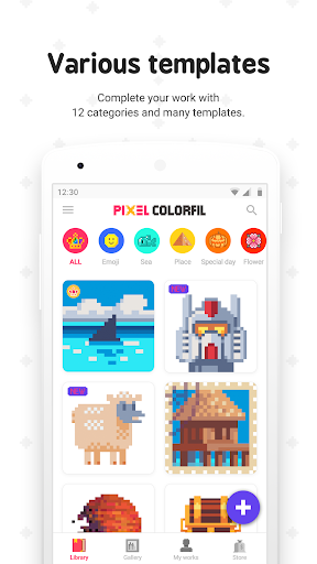 Pixel ColorFil: Color by Number Free Coloring Book apktreat screenshots 2