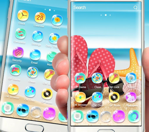 summer holidays colorful bling theme screenshot 1
