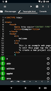 WebCode – ide for html, css and javascript 2