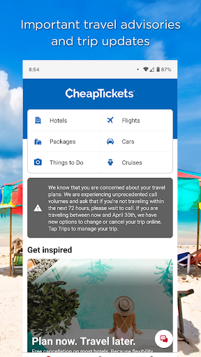 CheapTickets – Hotel, Flight, Car & Travel Deals 20.47.0 screenshots 1