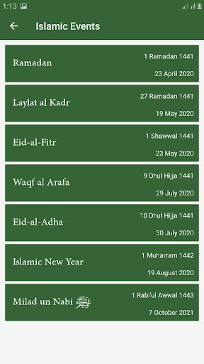 Hijri calendar (Islamic Date) and Moon finder 4.2 Screenshots 5