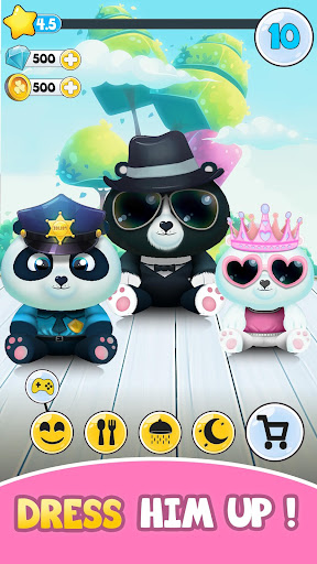 Pu - Cute giant panda bear, virtual pet care game 3.1 screenshots 3