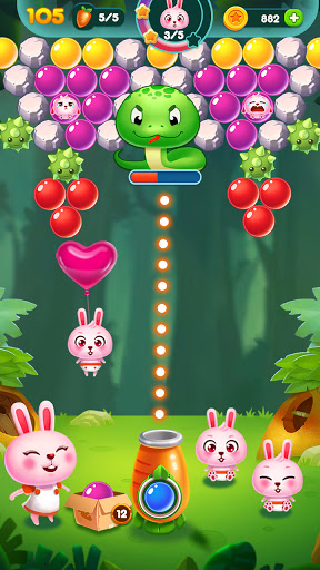 Bubble Bunny: Animal Forest Shooter apkpoly screenshots 6