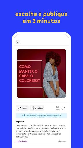 Ahazou - posts prontos para suas redes sociais apktram screenshots 6