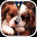 子犬ジッパーロック画面 - Androidアプリ