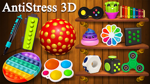 Fidget Cube 3D Antistress Toys - Calming Game  screenshots 1