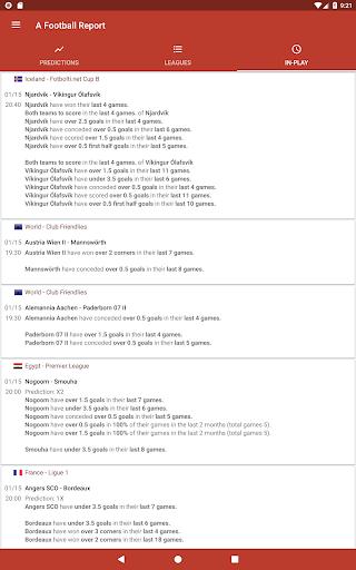 Football Tips & Stats - A Football Report 2.6 Screenshots 6