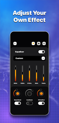 Volume Boost, Bass Boost + Equalizer Sound Booster android2mod screenshots 1