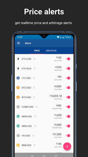 Foto do Cryptocurrency Bitcoin Alerts Portfolio Widgets