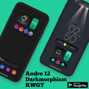Andro 12 Darkmorphism KWGT Apk [PAID] Download 1
