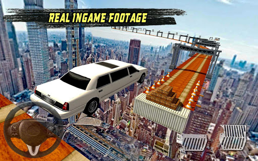 extreme limo mega ramp - car driving games 3d screenshot 2
