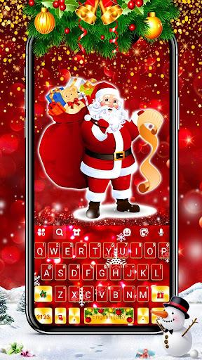 gold red christmas keyboard theme screenshot 1