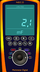 Digital Multimeter/Oscilloscope Free 1.7.4 Mod + Data for Android 3