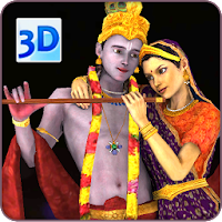 3D Radha Krishna Live Wallpaper
