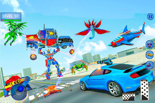 Real Shark Robot Car Game u2013 Police Truck Robot  screenshots 5