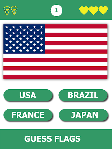 Flags Quiz Gallery : Quiz flags name and color  screenshots 1