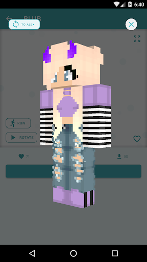 HD Skins for Minecraft PE (128x128) android2mod screenshots 6