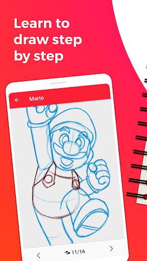 WeDraw - How to Draw Anime & Cartoon 1.0 Screenshots 1