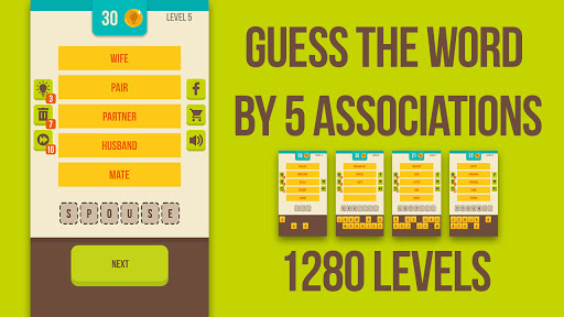 Guess the word - 5 Clues, word games for free 2.8.1 screenshots 7