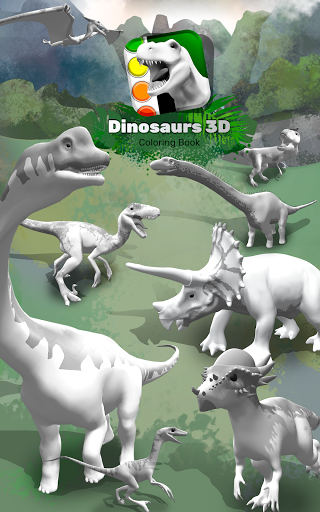 Dinosaurs 3D Coloring Book modavailable screenshots 9