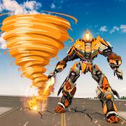 Fire Tornado Robot Transforming Game