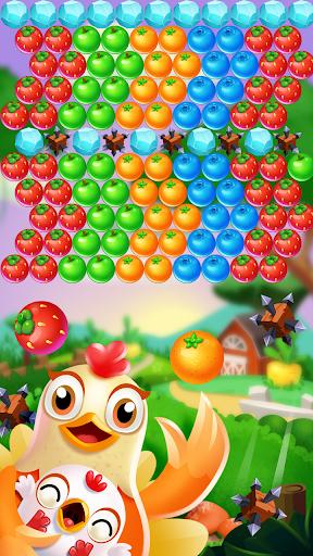 Chicken pop - Fruits bubble splash 1.0.7 screenshots 4