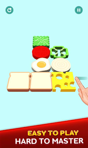 Perfect Sandwich Folding Puzzle Master android2mod screenshots 6