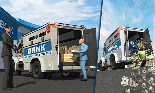 bank cash transit security van money bank robbery screenshot 1