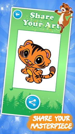 Code Triche Jeux de dessin: Livre de coloriage animaux enfants (Astuce) APK MOD screenshots 5